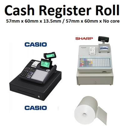 Qoo10 plan b singapore stationery supplies cash register paper premium thermal paper roll 57 x 60 x 12mm for casio sharp fandeluxe Image collections
