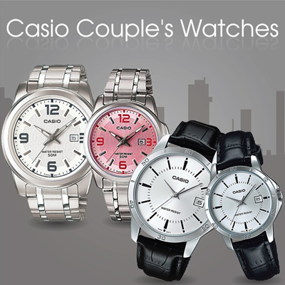 be9ea39057fec ✮ AUTHENTIC CASIO COUPLES WATCHES ✮ Casio Couple His and Her Pairs Date  Display