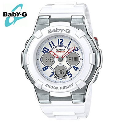 312ab603b0f25 Qoo10 - (Casio) Casio Women s Baby G BGA110TR-7B White Rubber Quartz Sport  Wat...   Watch   Jewelry