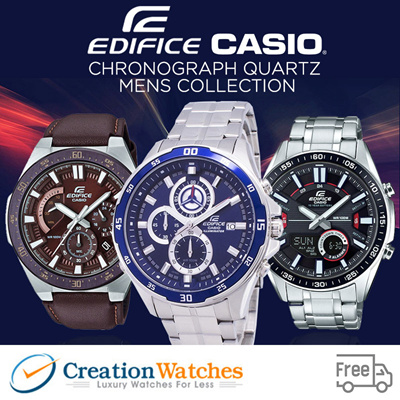 Casio Creationwatches Casio Edifice Chronograph Quartz Mens Watch Collection