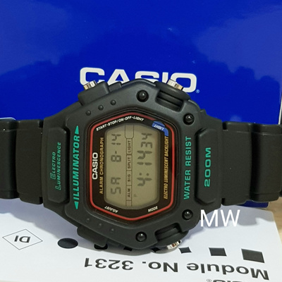 Casio Digital Classic Alarm Chronograph WR200M DW-290-1VS DW-290-1