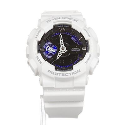 4f43025c3614 Qoo10 - Casio G-Shock GMAS110CW-7A3 Fashion Watch Cool White w  Black Blue  Fac...   Watch   Jewelry