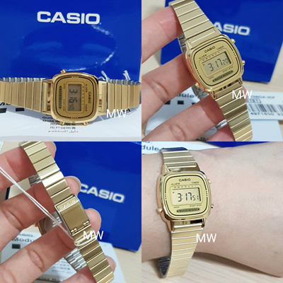 9064dc62d Casio LA670 LA670WGA Ladies Gold Digital Retro Vintage Womens Watch  LA-670WGA-9D