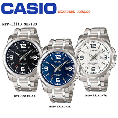 b6398e9efa9 Qoo10 - Casio MTP-1314D MTP1314D MTP 1314D Men Classic Analog Stainless  Steel ...   Watch   Jewelry