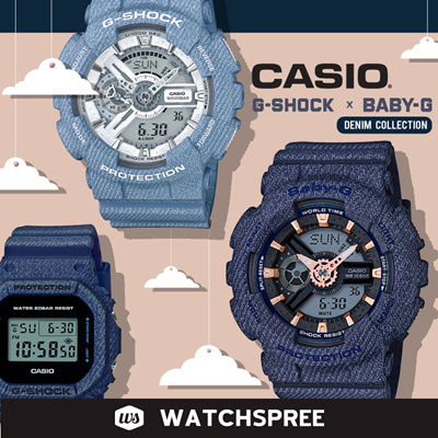 265a45e71d2  APPLY 25% OFF COUPON  G-SHOCK X BABY-G DENIM COLLECTION