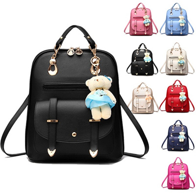 db69858a00ac Casual PU Leather Backpack Travel Bags School Backpacks Women Bag Lovely  Girls School Bags Ladies Ba