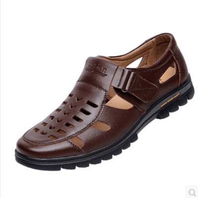 Casual Summer Shoes Leather Mens Hole Qoo10 Hollow Sandals rCBodxe