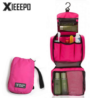 b10f5bc030 Qoo10 - Casual Women Men Hanging Cosmetic Bag Travel Makeup Case Zipper  Pillow...   Bag   Wallet