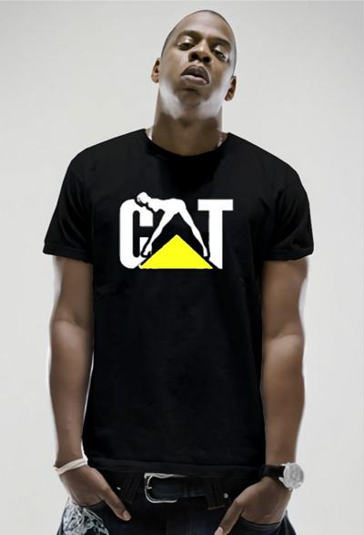 Cat Power Naughty Caterpillar Girl Logo Short Sleeve O-neck T-shirt