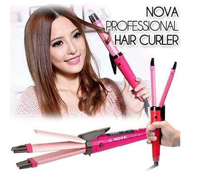 Catok Rambut Nova 2 in 1 lurus keriting Hair Vise Nova 2 in 1 straight curly