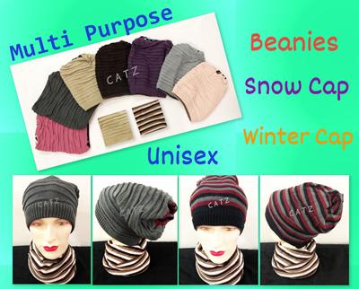 ea802a2b598   CATZ   Beanie Winter Hat Winter Cap Snow Cap Neck Warmer Knitted Scarf  Slouchy Beanie