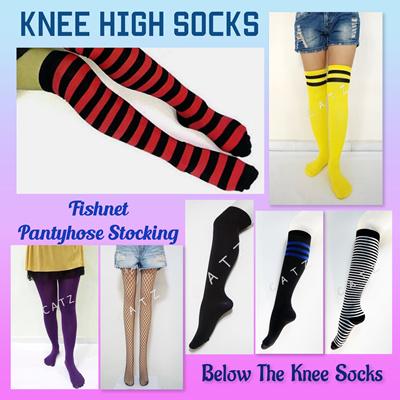 6534eb08395f2 Knee High Socks Cotton Socks Fishnet Socks Pantyhose Stockings Fishnet  Stockings School Girl Socks