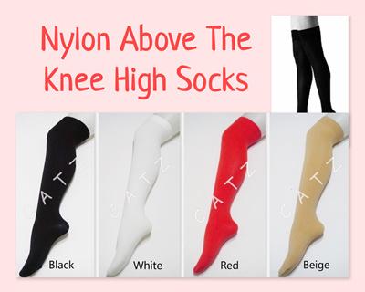 34746de456bae Knee High Socks Woman Nylon Tigh High Over The Knee Socks Stocking