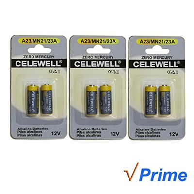 Qoo10 Celewell 6 Pack A23 Battery 12v Alkaline 23a Mn21 23ae L1028
