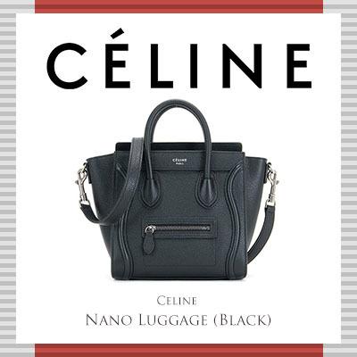Celine Nano Luggage Black