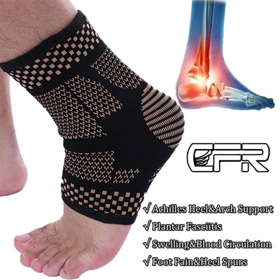 91f8663399 Qoo10 - CFR 1PC Copper Ankle Support Sleeve Compression Socks Achilles  Tendon ... : Cosmetics