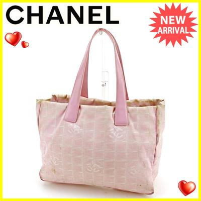 6308b366f5a95f Chanel CHANEL Tote Bag Shoulder Bag Ladies Tote MM New Travel Line Pink ×  Gold Nylon
