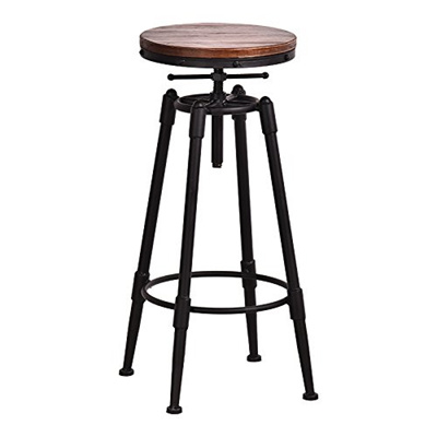 Awe Inspiring Channelmay Rustic Industrial Vintage Retro Metal Breakfast Bar Stool Kitchen Counter Chair With Ibusinesslaw Wood Chair Design Ideas Ibusinesslaworg