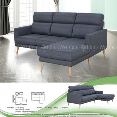Qoo10 - Charlotte L-Shape Fully Leather Sofa Lounge Chair Living ...