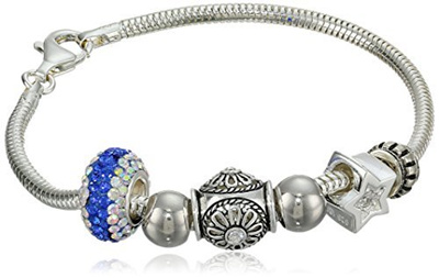 diamante product img goldgrey silver vonyx bracelet diamond bead rose beaded gold home ball grey