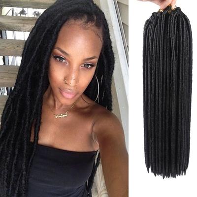 Qoo10 Cheap New Soft Dread Lock Hair Faux Locs Crochet Black