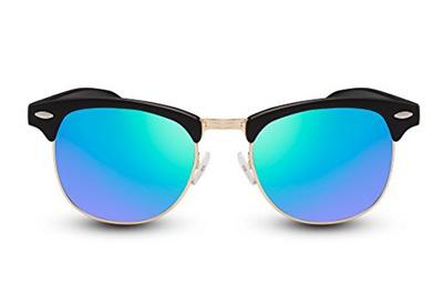 0c23c6a4263dc0 Qoo10 - Cheapass Sunglasses Clubmaster Black Brown Mirrorred UV400 Men  Women   Men s Bags   Shoes