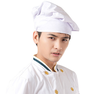 Chef Hats Unisex Restaurant Kitchen Cooking Hat Hotel Working Cap Adult Cap White Cook Food Prep