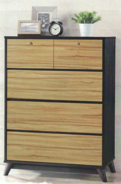 Qoo10   Chest Of Drawer (Wicker Oak And Walnut Color) : Furniture U0026 Deco