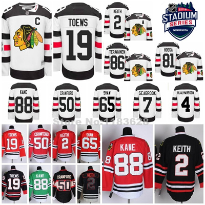 sale retailer 6a2d8 d3d5d Chicago Blackhawks 2016 Stadium Series Jerseys Jonathan Toews,Kane,Duncan  Keith,Seabrook,Crawford,Sh