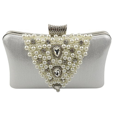 1229a74cb6459 Qoo10 - (Chichitop) Chichitop Elegant Rhinestones Hard Clutch Pearl Evening  Ba...   Bag   Wallet