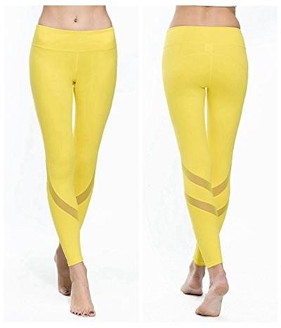 3cc84b97b7caa Qoo10 - Chikool Women Yoga Pants Leggings Mesh Workout Gym Pants Active  Leggin... : Sports Equipment