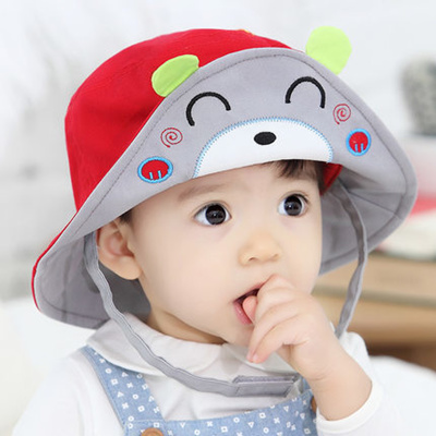 eae6aa103aa Qoo10 - Children  s Sun Hat and summer 1-3 cotton boys baby Sun bucket Hat  ...   Men s Bags   Sho.