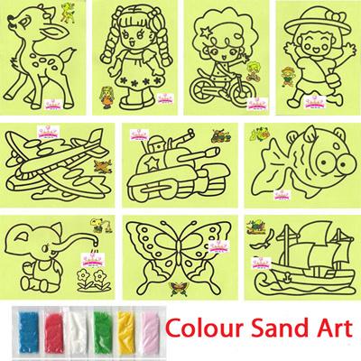 children art craft diy colour sand art kids goodie bag children day gift creative toys - Colour For Children
