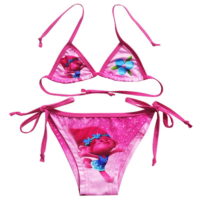 ca300ec1152f1 Qoo10 - Children bathing suit girl bikini trolls magic hair elf split  swimsuit... : Athletic & Outdo.