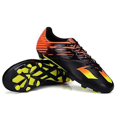Qoo10 - Children Boy Black Orange PU Football Boots AG Soccer Cleats Soccer  Sh...   Men s Bags   Sho. 7583331d7a37