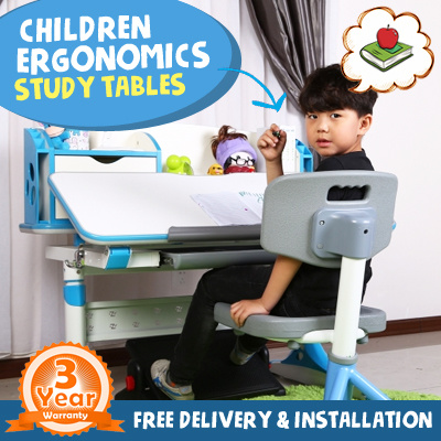 kids study table qoo10 children ergonomics study table set children 11651