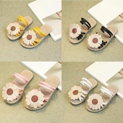 dd0bf95e15af Qoo10 - Children Infant Kids Girls Sunflower Sandals Slipper Casual Beach  Shoe...   Mobile Devices