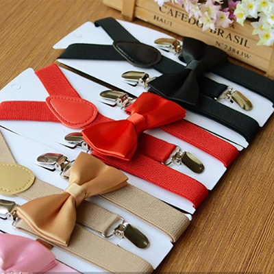 NEW Children Boys Girls Solid Color Clip-on Suspenders Elastic Adjustable Braces