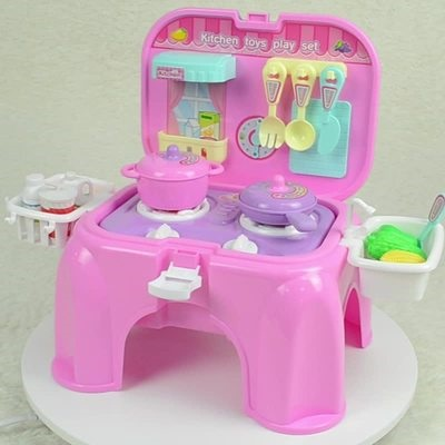 Children S Play House Kitchen Toys Baby Cooking Simulation Kitchenware Boys And Girls Kitchen Bench