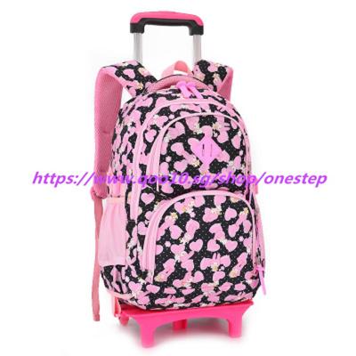 Qoo10 Children Trolley School Bag Backpack Wheeled School Bag 2 6
