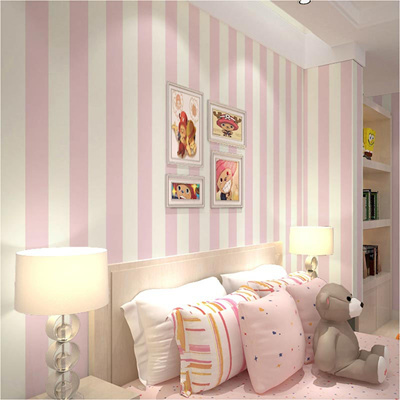 . Children Wallpaper Stripes Wall Paper For Bedroom Wall Decor Non woven  Iistrado Wallpaper Roll For W
