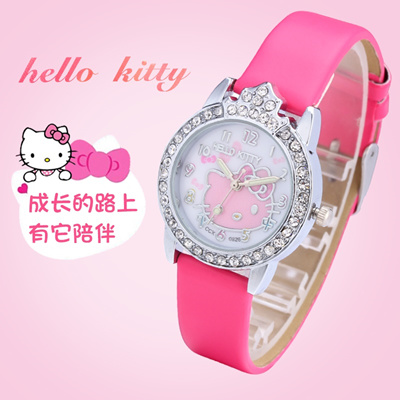 Qoo10 - Children watch girls lovely KT cat full set rhinestones form girls  stu...   Watch   Jewelry 9963485a0e