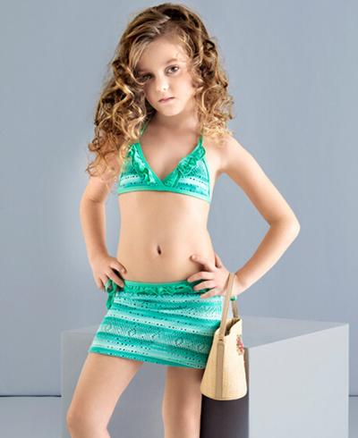 Qoo10 - Childrens bathing suit girl Bikini skirt type ...