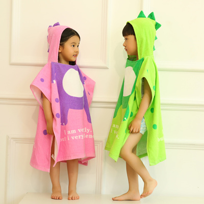 5725fbe090 Qoo10 - Childrens Beach Towels Breathable Warm Child Cartoon Bathrobes   Premi...   Kids Fashion