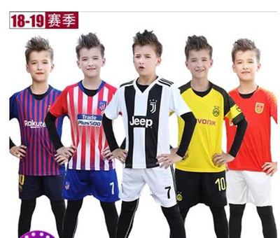 big sale a42f4 19e5b Childrens soccer clothing suit boys training clothes primary school  uniforms youth short-sleeved sp