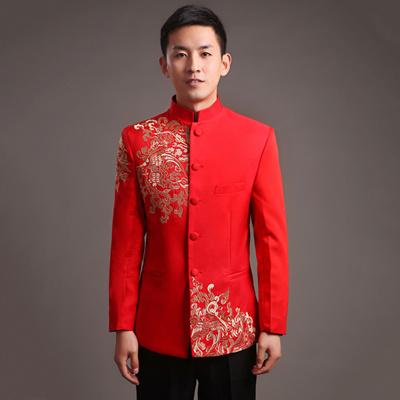 Qoo10 - Chinese wedding dress costume show Wo suit men\' s wedding ...