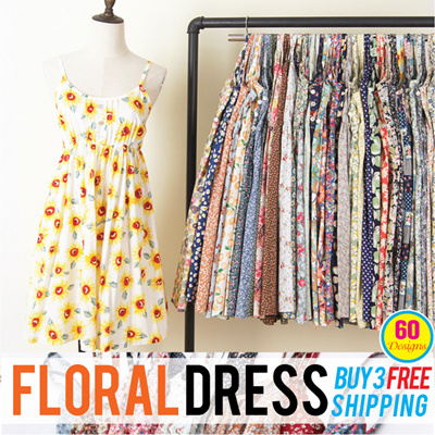 70e418f0dba11 Choice Fashion★Buy 3 Free shipping★2018 New Korea Style floral dress/ 100%  cotton/Camisole Dress