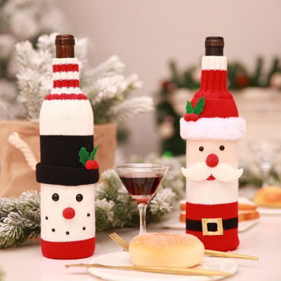 Qoo10 Christmas Decoration 2018 Santa Claus Wine Bottle Cover Gift