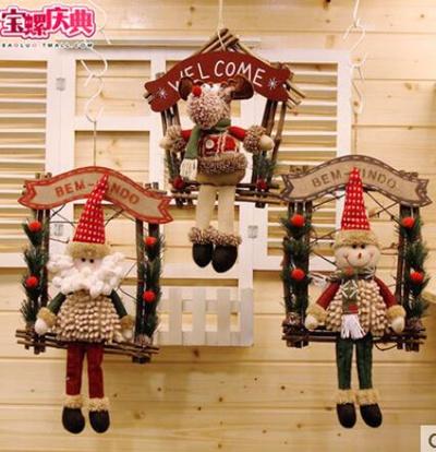 bd5f4ce9dafe Qoo10 - Christmas decoration rattan door hanging room decoration supplies  old ... : Furniture / Deco