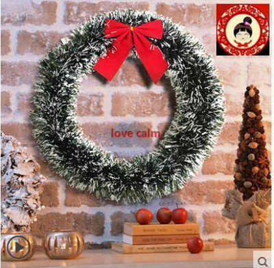 Christmas Ornament Tops.Christmas Decorations Window Decorate Christmas Tree Tops Snow Wreath Wreath Round Decorative Pendan